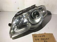 2007 VW PASSAT B6 LEFT PASSEGER SIDE HEADLIGHT 3C0941005R