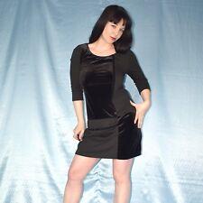 SAMT Karos am COCKTAILKLEID mit Strass* M 40 * Abendkleid* Partykleid* Minikleid
