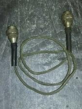 ANCIEN VINTAGE Microphone ? Haut parleur ?  cable.7 pin femelle/femelle 1.3 m