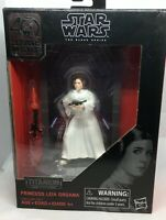 NIB Princess Leia Organa Action Figure, Star Wars Black Series, Titanium Series