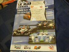 2007 silverstone 1000 KM WEC LE MANS Programme Pescarolo Judd PEUGEOT 908