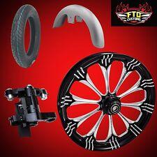 "Harley 26 inch Big Wheel Builder kit, Wheel, Tire, Neck, & Fender, ""Warlock"""