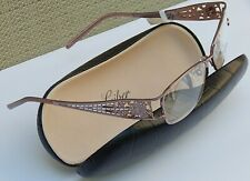 JUDITH LEIBER 1640 READERS READING GLASSES TITANIUM +2.50 NEW$440 AUTHENTC JAPAN