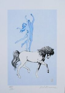 Milo Manara: La Riding - Lithograph Signed And Numbered, 30 Ex, Grand Picasso
