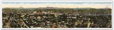 HUGE Downtown Portland Oregon Panoramic MAP - Mt St Helens Adams Hood circa 1913