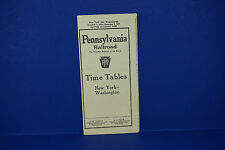 1939 Pennsylvania Railroad Timetable New York Washington Form 79 1st Ed.