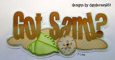 Summer Sand Paper Piecing PreMade Die Cuts Borders Scrapbook Albums danderson651