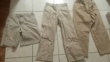Boys Lot pants size 10 tan beige Old Navy Khakis Chinos Uniform + Gap shorts Guc
