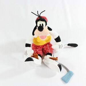 Disney Fisher Price Goofy Golf Plush Stuffed Animal Star Bean Golfer Golfing