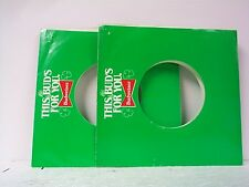 2-BUDWEISER RECORD COMPANY 45's SLEEVES  LOT # A-323