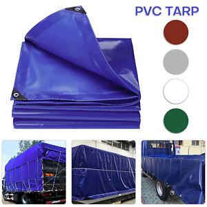 18oz Heavy Duty PVC Coated Tarp Cover Premium Tarpaulin Canopy Tent UVProtective