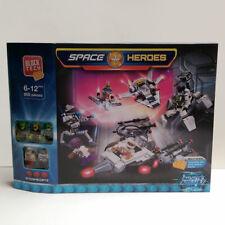 605pc Block Tech Space Heroes Building Blocks Bricks Minifigures Alien Spaceship