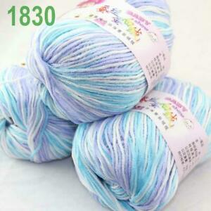 Sale 3 Balls x 50g DK Baby Soft Cashmere Silk Wool Hand Knitting Crochet Yarn 30