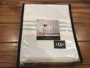 Ugg - Devon Shower Curtain - Blue Crush Stripe - New