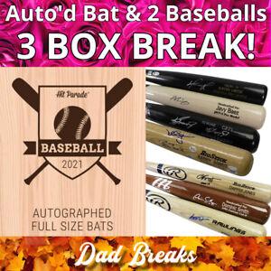 CLEVELAND INDIANS MLB Hit Parade Signed Bat + 2 TriStar Baseball: 3 BOX BREAK