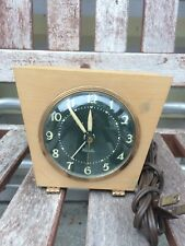 "Vintage wooden Westclox desk/mantle clock. ""Sphinx"". Electric."