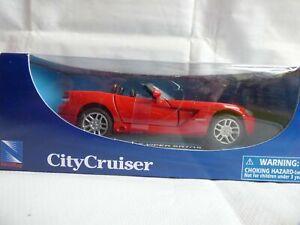 1:32 New Ray Red Dodge V10 SRT Viper GTS City Cruiser Metal Diecast Toy Car