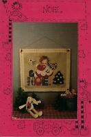 NOEL Angel Primitive Christmas Applique Mini Quilt Wall Hanging by FRIENDS VTG