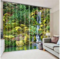 Mountain Creek 3D Blockout Photo Curtain Printing Curtains Drape Fabric Window