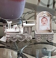 Train Money Bank with 1st Tooth & Curl Carriage, Silver Plated
