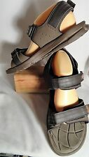New Balance Brown Synthetic, Adjustable Straps, Lt. Weight Sandals, Mans 11D