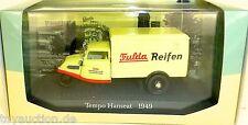 Tempo Hanseat 1949 FULDA RUOTE 1:43 Atlas 7421108 NUOVO IN BOX #HS5 µ
