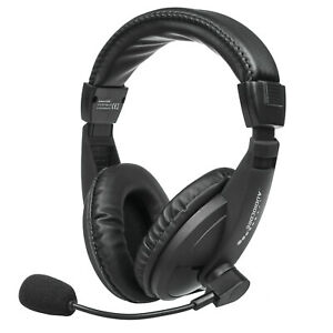 USB Headset Headphones with Microphone Gaming Home Office Comfortable HQ Sound