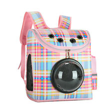Pet Carrier Backpack for Dogs Cats Outdoor Travel Transparent Space Capsule Pink