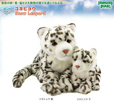 Colorata Real Animal Family Stuffed animal Plush Snow Leopard Family New Gift