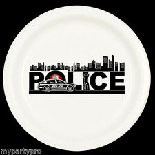 Police City Dessert Plate Birthday Party Supplies law enforcement