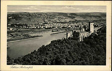 Koblenz am Rhein alte AK~1920/30 Blick auf Schloß Stolzenfels und Rheintal
