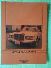 BENTLEY Mulsanne 1986c UK Market brochure