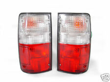DEPO Red Clear Tail Lights Lamps for 1989-1995 Toyota Pickup Truck 2WD & 4WD