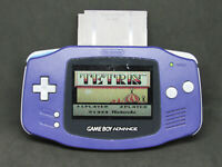 Nintendo Game Boy Advance AGB-001 Blue Handheld Video Game Console No Back Cover