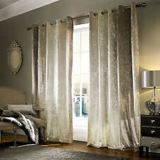 """Natala Champagne Lined Velvet Ringtop Eyelet Ready Made Curtain by Kylie Minogue 168cm X 229cm (66""""x90"""")*"""