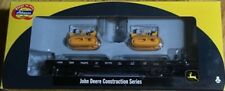 Athearn Canadian Pacific Flat car with 2 John Deere Crawlers--New --Ho Scale