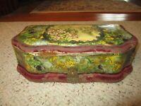 Vintage Celluloid Dresser Box For Brush, Comb & Mirror!!!