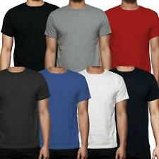 Gaffer Mens T-Shirt Plain Cotton Short Sleeve Crew Neck Tee Top 7,10 Multi Packs
