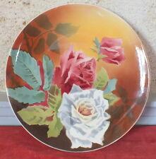 plat faience  terre de fer Choisy Le Roi décor floral