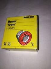 Vintage Bussmann Buss Type S, SL 20 Amp TimeDelay Fuse; Tamper-Proof Base; Qty=4