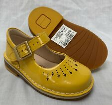 472d1657a58 BNIB Clarks Girls Yarn Jump Yellow Patent Leather Air Spring First Shoes F G