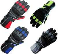 MENS COLOURED RANGE MOTORBIKE / MOTORCYCLE MOTOCROSS ALL WEATHER TEXTILE GLOVES