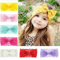 cute Kids Girl Baby Headband Toddler Lace Bow Flower Hair Band Accessories
