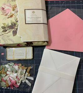 Anna Griffin Envelope LINERS, RIBBONS & SENTIMENTS Card Kit Supplement ~ Bows