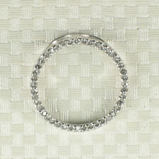 Elegant and beautiful 14k solid White Gold Circle Design Diamond Pendant TPJ
