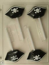 PIRATE HAT LOLLIPOP CLEAR PLASTIC CHOCOLATE CANDY MOLD H126