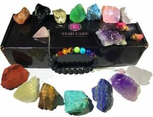 Collection 17 pcs Healing Crystals kit, 7 Raw Chakra Chakra Therapy Starter