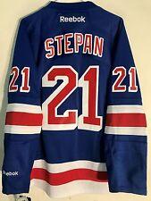 Reebok Premier NHL Jersey New York Rangers Derek Stepan Blue sz S