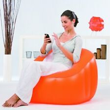 EW Bestway Comfi Cube Inflatable Chair Playroom Camping Chair Lounger Sofa Seat