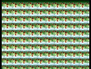 LOT 90814 MINT NH 1350 FULL SHEET EDIBLE BERRIES DEFINITIVE WILD STRAWBERRY